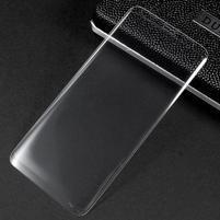 Celoplošné fixační tvrzené sklo na Samsung Galaxy S8 - transparentní lem