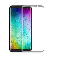 FFScreen celoplošné fixační tvrzené sklo na displej telefonu Samsung Galaxy S8+ - stříbrný lem