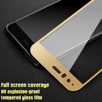 GTX fixační celoplošné tvrzené sklo na Huawei P10 - zlatý lem