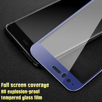 GTX fixační celoplošné tvrzené sklo na Huawei P10 - modrý lem