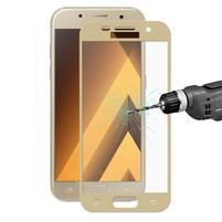Hats celoplošné fixační sklo na Samsung Galaxy A5 (2017) - zlatý lem