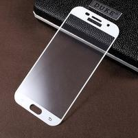 CrocoSilk celoplošné fixační sklo na displej telefonu Samsung Galaxy A5 (2017) - bílý lem