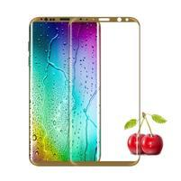 FFScreen celoplošné fixační tvrzené sklo na displej telefonu Samsung Galaxy S8+ - zlatý lem