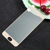 Full fixační celoplošné tvrzené sklo na Xiaomi Mi6 - zlatý lem