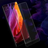 Celoplošné fixační tvrzené sklo na Xiaomi Mi Mix - černá hrana