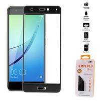 Celoplošné fixační tvrzené sklo na Huawei Nova - černý lem