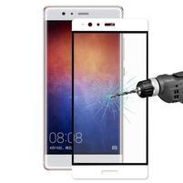 Celoplošné ochranné tvrzené sklo na  Huawei P9 Plus - bílý lem