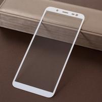5D celoplošné tvrzené sklo na Samsung Galaxy J6 (2018) - bílý lem