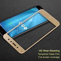IMK celoplošné tvrzené sklo na displej Asus Zenfone Live ZB501KL - zlatý lem