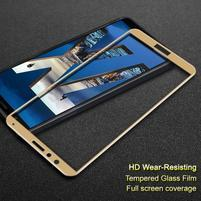 IMK celoplošné tvrzené sklo na Honor 7X - zlaté