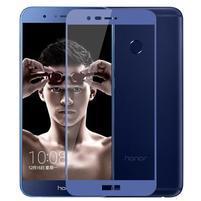 MLC celoplošné tvrzené sklo na Honor 8 Pro - modrý lem