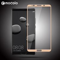 MLC celoplošné tvrzené sklo na Huawei Mate 10 - zlatý lem