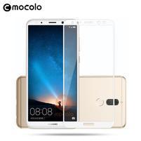 MLC celoplošné tvrzené sklo na Huawei Mate 10 Lite - bílý lem