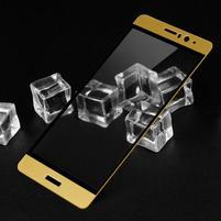 IMK celoplošné tvrzené sklo na displej Huawei Mate 9 - zlatý lem