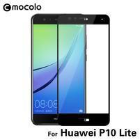 MLC celoplošné tvrzené sklo na Huawei P10 Lite - černý lem