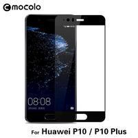 MLC celoplošné tvrzené sklo na displej Huawei P10 Plus - černý lem