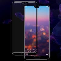 FX7 tvrzené celoplošné sklo na displej Huawei P20 - černý lem