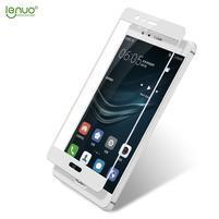 LEN celoplošné tvrzené sklo na Huawei P9 - bílé