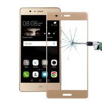 Protinárazové celoplošné tvrzené sklo na mobil Huawei P9 - zlaté