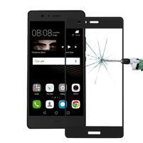 Protinárazové celoplošné tvrzené sklo na mobil Huawei P9 - černé