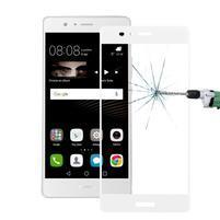 Protinárazové celoplošné tvrzené sklo na mobil Huawei P9 - bílé