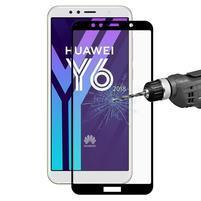 HT celoplošné tvrzené sklo na Huawei Y6 Prime (2018) a Honor 7A - černý okraj