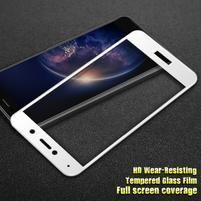 IMK celoplošné tvrzené sklo na displej Huawei Y7 (2017) - bílý lem