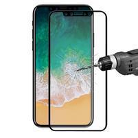 F9X celoplošné tvrzené sklo na iPhone X - černé
