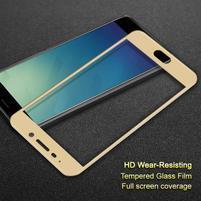 IMK celoplošné tvrzené sklo na Meizu M6 Note - zlatý lem