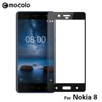 MLC celoplošné ochranné sklo na Nokia 8 - černý lem