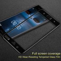 IMK celoplošné tvrzené sklo na displej Nokia 8 - černý lem