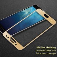 Celoplošné tvrzené sklo na displej Samsung Galaxy J7  (2017) - zlatý lem