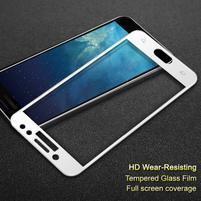 Celoplošné tvrzené sklo na displej Samsung Galaxy J7  (2017) - bílý lem