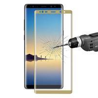 HAT celoplošné trvzené sklo na Samsung Galaxy Note 8 - zlatý lem