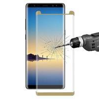 FXM4 celoplošné tvrzené sklo na displej  Samsung Galaxy Note 8 - zlaté