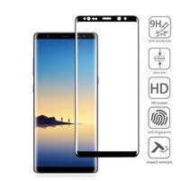 AGB celoplošné tvrzené sklo na displej Samsung Galaxy Note 8 - černý lem