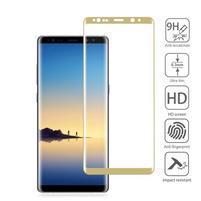 AGB celoplošné tvrzené sklo na displej Samsung Galaxy Note 8 - zlatý lem