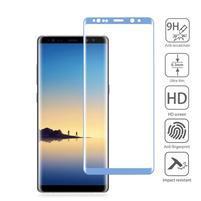 AGB celoplošné tvrzené sklo na displej Samsung Galaxy Note 8 - modrý lem