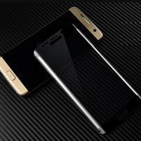 M3D fixační celoplošné tvrzené sklo na Samsung Galaxy S6 edge - černý lem