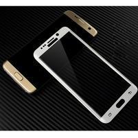 M3D fixační celoplošné tvrzené sklo na Samsung Galaxy S6 edge - bílý lem