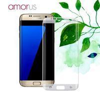 AMR celoplošné fixační tvrzené sklo na Samsung Galaxy S7 edge - průhledný lem
