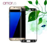 AMR celoplošné fixační tvrzené sklo na Samsung Galaxy S7 edge - černý lem
