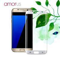 AMR celoplošné fixační tvrzené sklo na Samsung Galaxy S7 edge - bílý lem