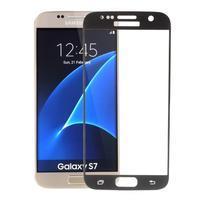 SFF 8 celoplošné tvrzené sklo na displej na Samsung Galaxy S7 - černý lem