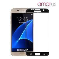 AMOR celoplošné tvrzené sklo na Samsung Galaxy S7 - černý lem