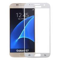 SFF 8 celoplošné tvrzené sklo na displej na Samsung Galaxy S7 - bílý lem