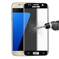 Full celoplošné tvrzené sklo na displej Samsung Galaxy S7 - černý lem