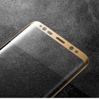 MLC celoplošné ochranné tvrzené sklo na Samsung Galaxy S8 Plus - zlaté