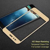 Celoplošné tvrzené sklo na mobil Xiaomi Mi A1 - zlatý lem
