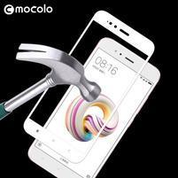 MCL celoplošné tvrzené sklo na Xiaomi Mi A1 - bílý rámeček